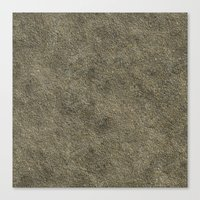 concrete Canvas Prints featuring Concrete by Texture