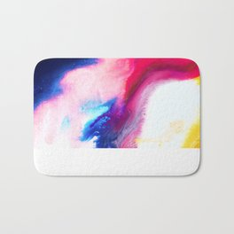 Happiness Talks Abstract Watercolor Painting Bath Mat