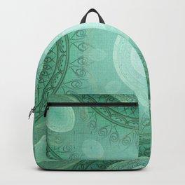 """""""Aquamarine Sea Mandala Deluxe"""" Backpack"""