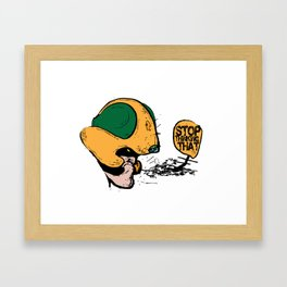 johnny alpha  Framed Art Print