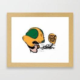 johnny alpha  Framed Art Print