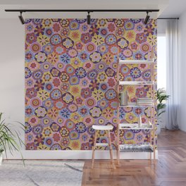 Millefiori-Sunset colorway Wall Mural