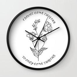 Lisianthus Flower Illustration — Floral Bouquet Inspirational Quote Design — Motivational Quote Art Wall Clock
