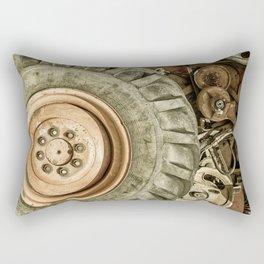 Big Combine Harvester Wheel Rectangular Pillow