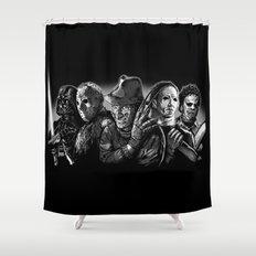 Freddy Krueger Jason Voorhees Michael Myers leatherface Darth Vader Blackest of the Black Shower Curtain