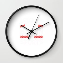 Cricket is the Bacon of Sports Funny Wall Clock