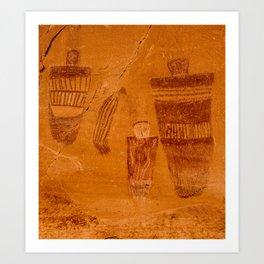 Great Gallery Pictograph Close-up Canyonlands National Park - Utah Art Print