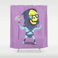 skeletor Shower Curtains featuring Skeletor by Rod Perich