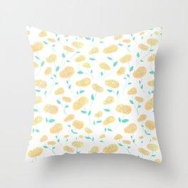 Peachy Florals Throw Pillow