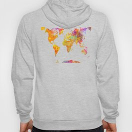 world map 23 Hoody