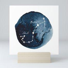 Scorpius Zodiac Constellation Mini Art Print