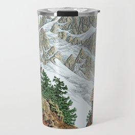 BEYOND MOUNT SHUKSAN AUTUMN COLOR VERSION Travel Mug