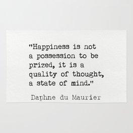 Daphne du Maurier quote Rug