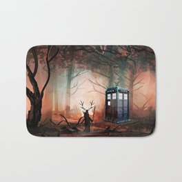 TARDIS IN THE FOREST Bath Mat