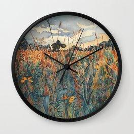 Wildflowers in Velvet Wall Clock