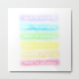 Smash The Patriarchy (Pastel Rainbow) Metal Print