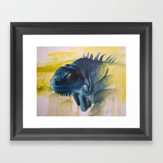 Green Iguana (Iguana iguana) Framed Art Print