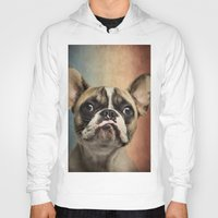 french Hoodies featuring French bulldog, french flag ! by Life on White Creative