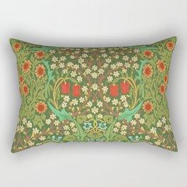 Green Garden Rectangular Pillow