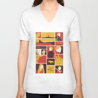 lannister V-neck T-shirts featuring House Lannister by Jack Howse