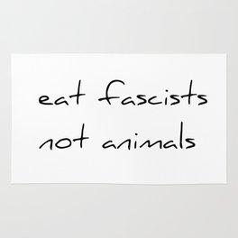 eat fascists not animals Rug