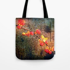 Fields Of Red Berries In The Evening Tote Bag