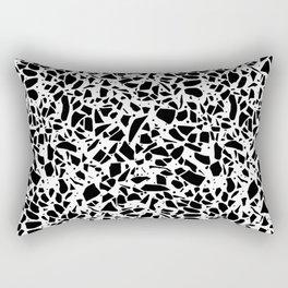 Terrazzo Spot 2 Black on White Rectangular Pillow