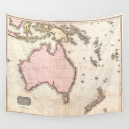 Vintage Map of Australia (1818) Wall Tapestry