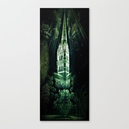 Memorial Glass Prism Engraving at Salisbury Cathedral by Rex Whistler Canvas Print