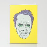 clint eastwood Stationery Cards featuring Clint Eastwood by Maciek Szczerba