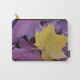 Yellow Gold Leaf on Red Carry-All Pouch