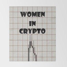 Women in Crypto Throw Blanket