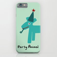 Party Animal-Teal Slim Case iPhone 6s