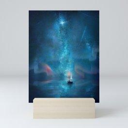 Voyager - Starry Night Sky Over Ocean Mini Art Print
