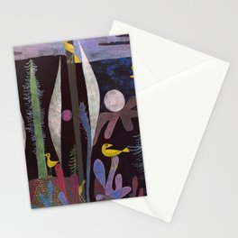 Landscape With Yellow Birds Paul Klee Stationery Cards