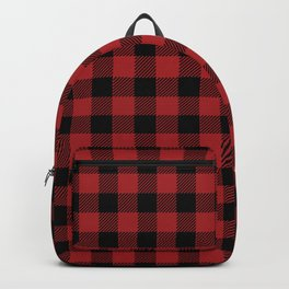 90's Buffalo Check Plaid in Red and Black Backpack
