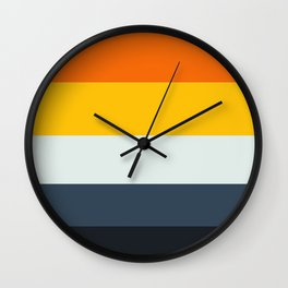 Complementary Color Palette Wall Clock