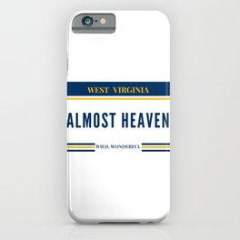 West Virginia Almost Heaven WVU Mountaineers Gifts iPhone Case