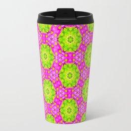 Kaleidoscope Of Pink Daises Travel Mug