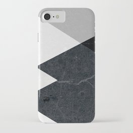 Geometrics - marble & silver iPhone Case