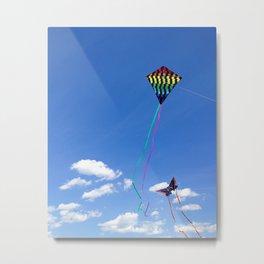 Flying Kites Metal Print