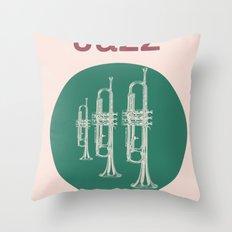 Jazz Relax Throw Pillow