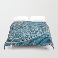 mosaic Duvet Covers featuring mosaic by shannonblue