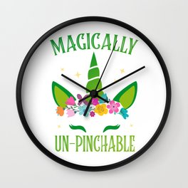 Unicorn sarcasm funny St. Patrick's Day Gift Wall Clock