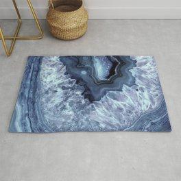 Steely Blue Quartz Crystal Rug