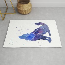 Galaxy Wolf Lupus Constellation Rug
