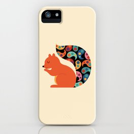 Paisley Squirrel iPhone Case