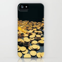 Gold Coins iPhone Case