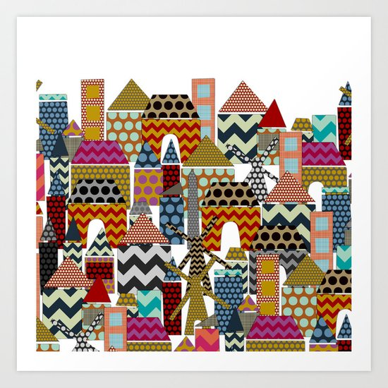 geo town Art Print