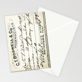 Vintage Prescription Label Stationery Cards
